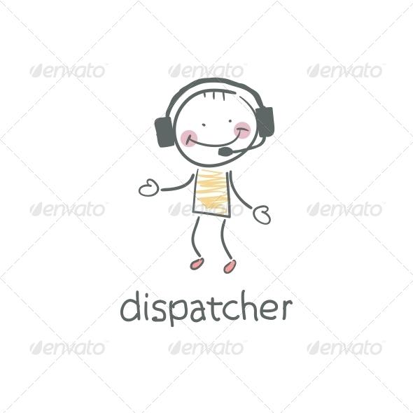 GraphicRiver Dispatcher Illustration 4220245