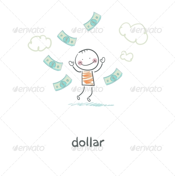 GraphicRiver Man and Money Illustration 4220264
