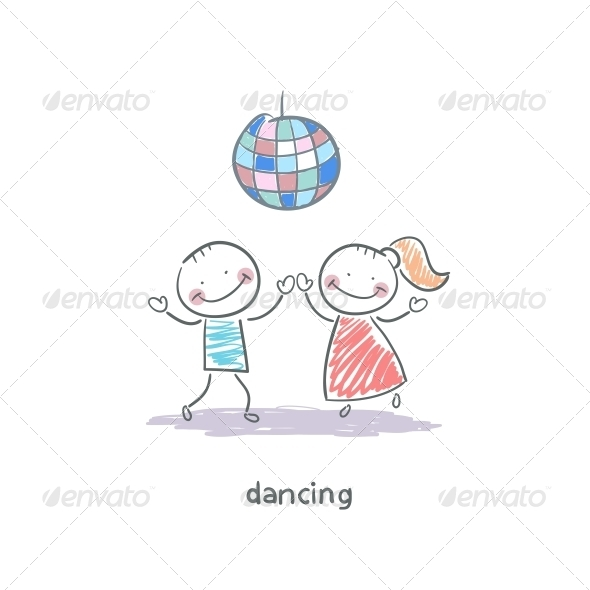 GraphicRiver Dancing Couple 4220265