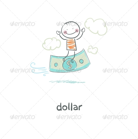 Man and Money Illustration