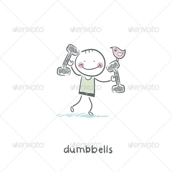 GraphicRiver Man Lifts Dumbbells 4220270