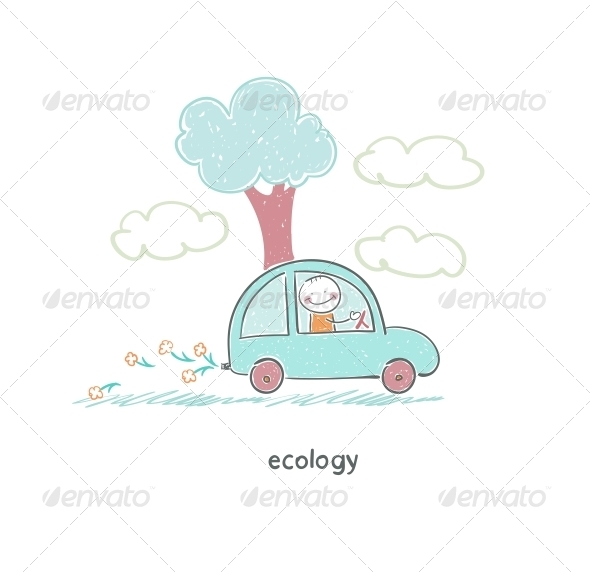 GraphicRiver Eco Car 4220272