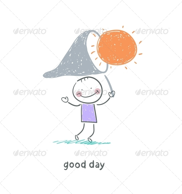 GraphicRiver Man Catches the Sun Illustration 4220333
