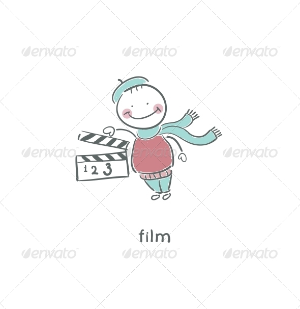GraphicRiver Blank Film Slate or Clapboard 4220337