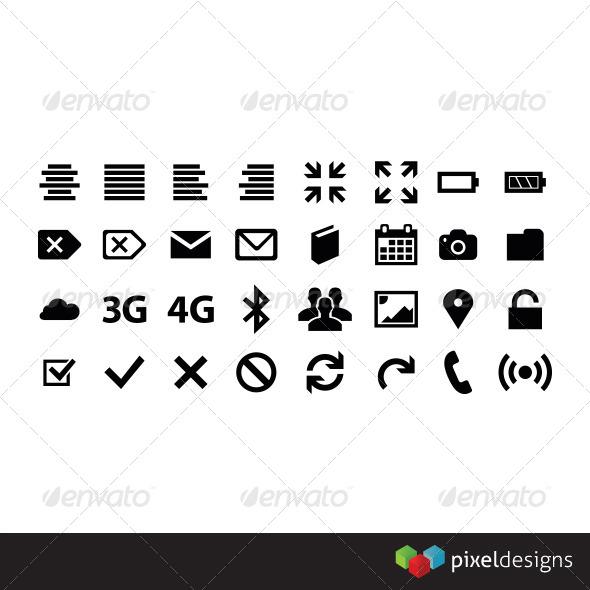 GraphicRiver 32 Metro style icon 4198435