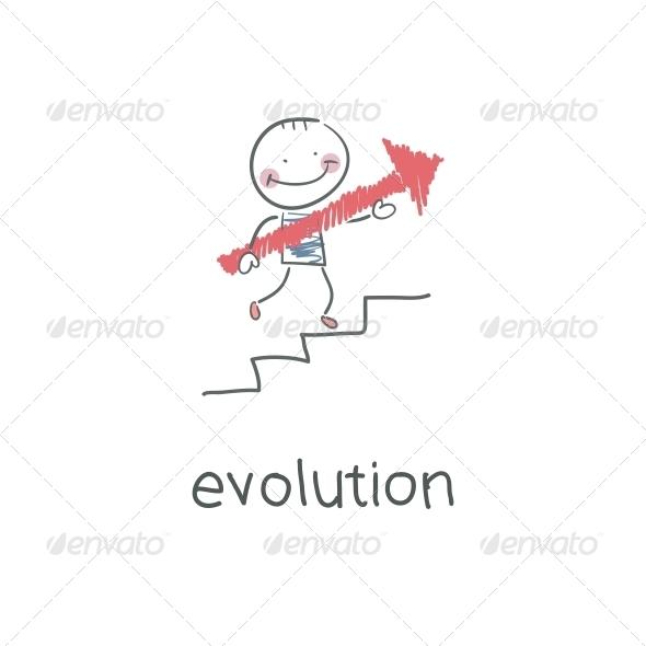GraphicRiver Evolution Career Illustration 4220391