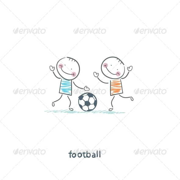 GraphicRiver The Boys are Playing Football 4220431