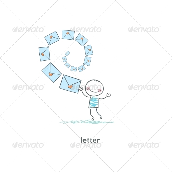GraphicRiver A Man and a Letter Illustration 4220464