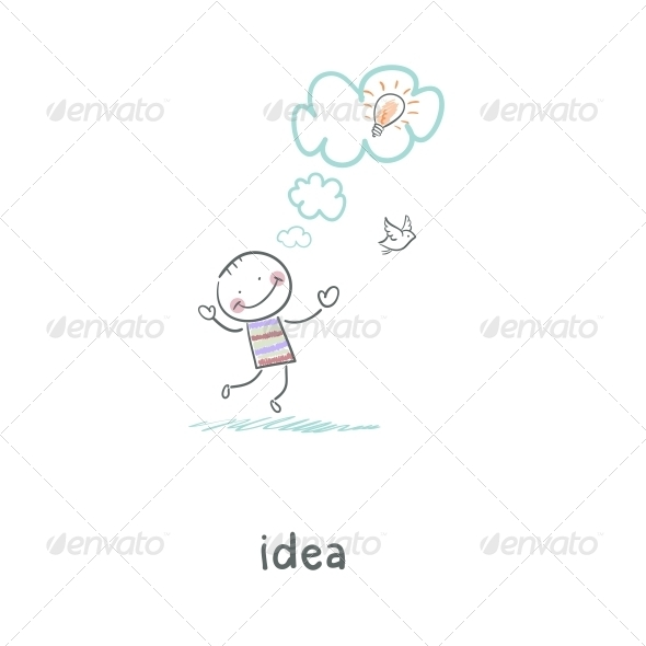 GraphicRiver The Birth of an Idea Illustration 4220471