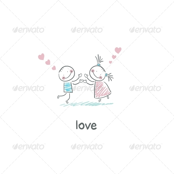 GraphicRiver Lovers Illustration 4220489