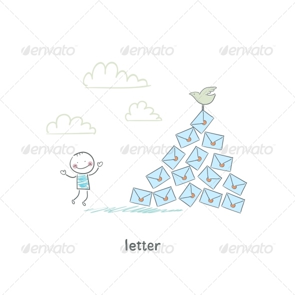 GraphicRiver A Man and a Letter Illustration 4220504