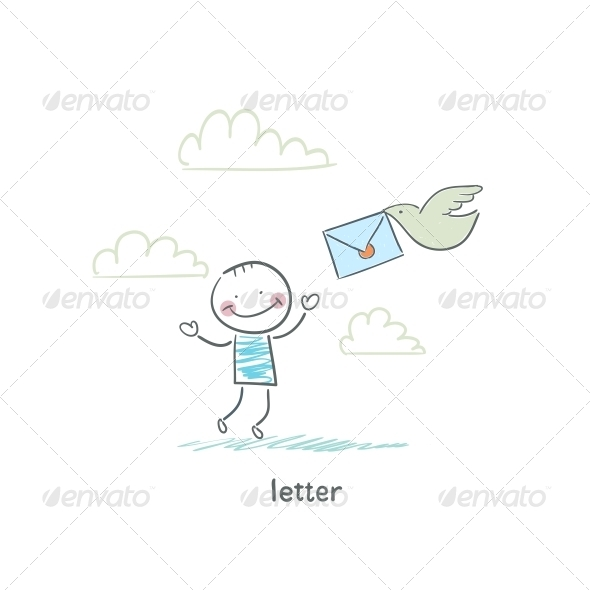 GraphicRiver A Man and a Letter Illustration 4220510