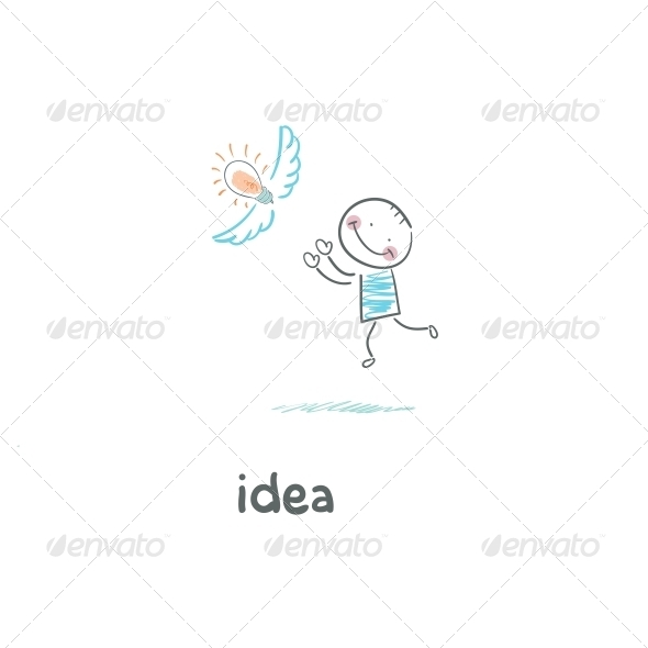 GraphicRiver A Man Catches his Idea 4220515