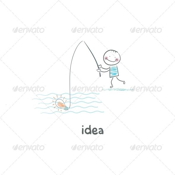 GraphicRiver A Man Catches his Idea 4220518