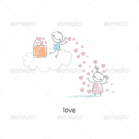 GraphicRiver Lovers Illustration 4220519