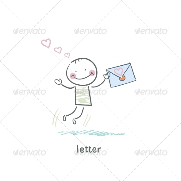 GraphicRiver A Man and a Letter Illustration 4220520