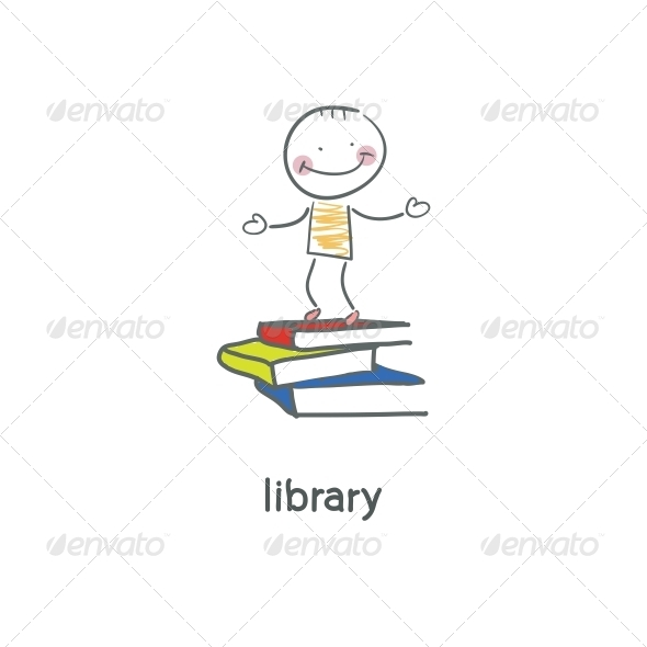 GraphicRiver Library Illustration 4220591