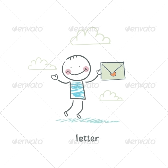 GraphicRiver A Man and a Letter Illustration 4220701