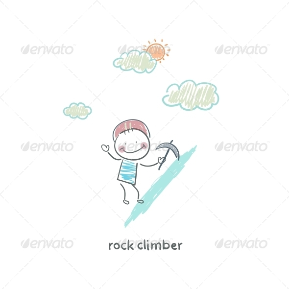 GraphicRiver Rock Climber 4220705