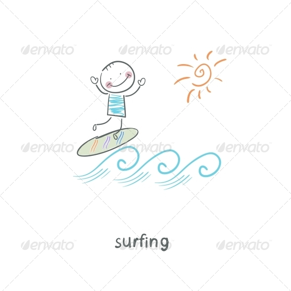 GraphicRiver Surfer Illustration 4220824