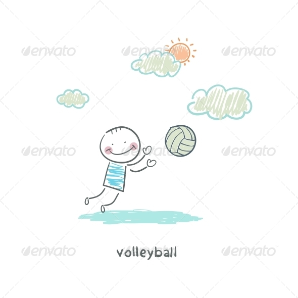 GraphicRiver Volleyball Player 4220829