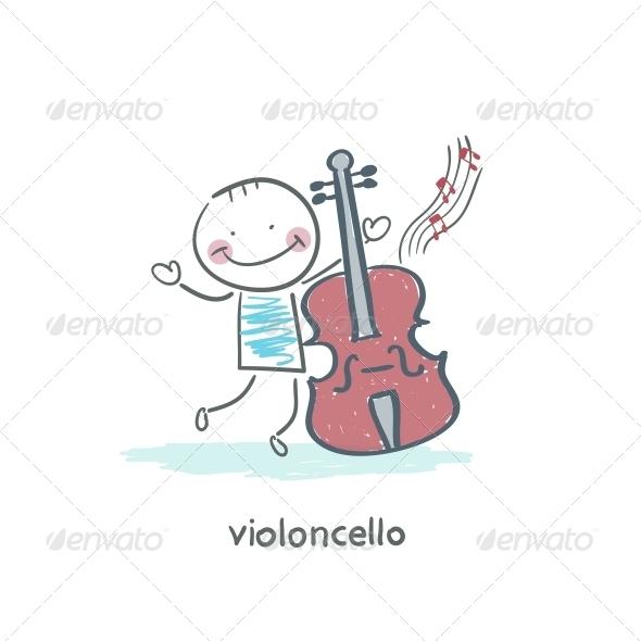 GraphicRiver Man and Cello 4220835