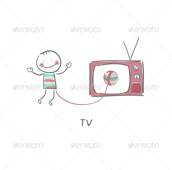 GraphicRiver Man and TV 4220855