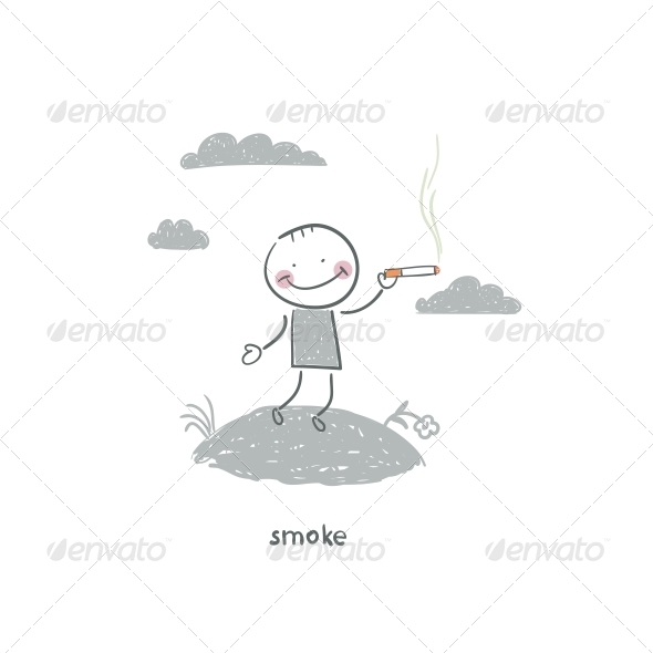 GraphicRiver Smoker Illustration 4220862