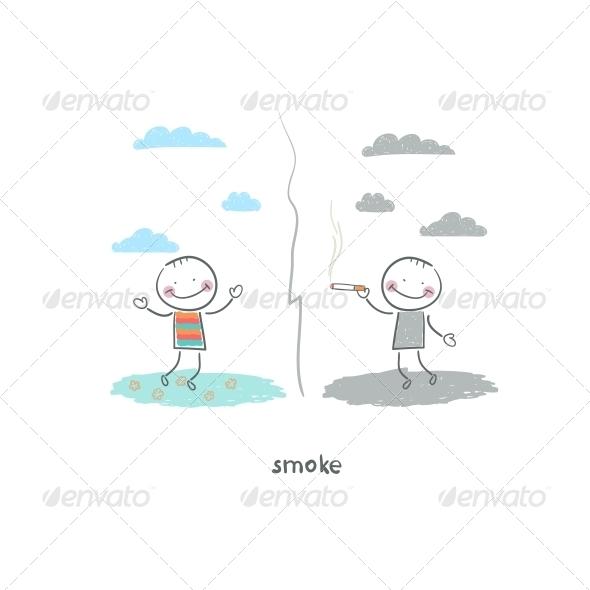 GraphicRiver Smoker Illustration 4220924