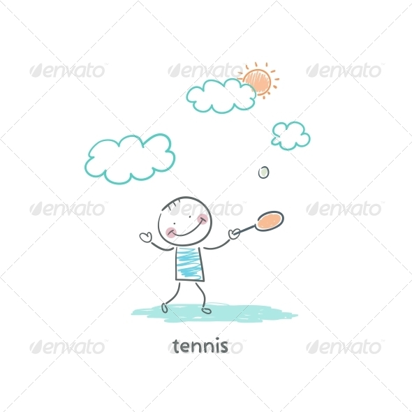 GraphicRiver Tennis Player 4220978