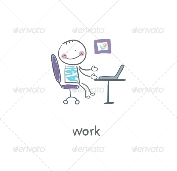 GraphicRiver Office Worker Illustration 4220979