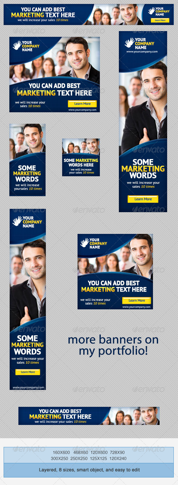 GraphicRiver Corporate PSD Banner Ad Template 5 4221076