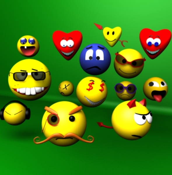3DOcean 3D Smiley Faces 4222193