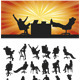 Sitting Silhouettes - GraphicRiver Item for Sale