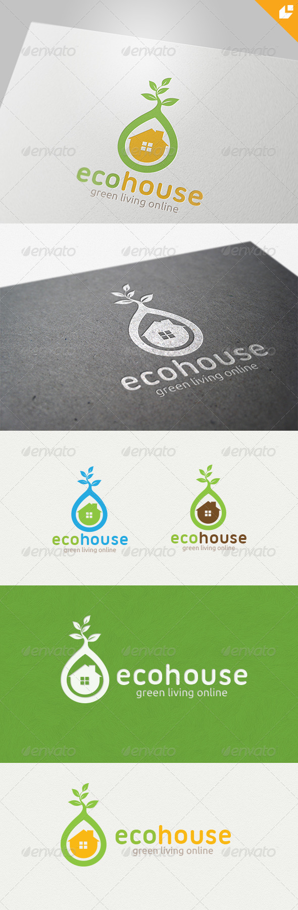 eco house Logo - Buildings Logo Templates