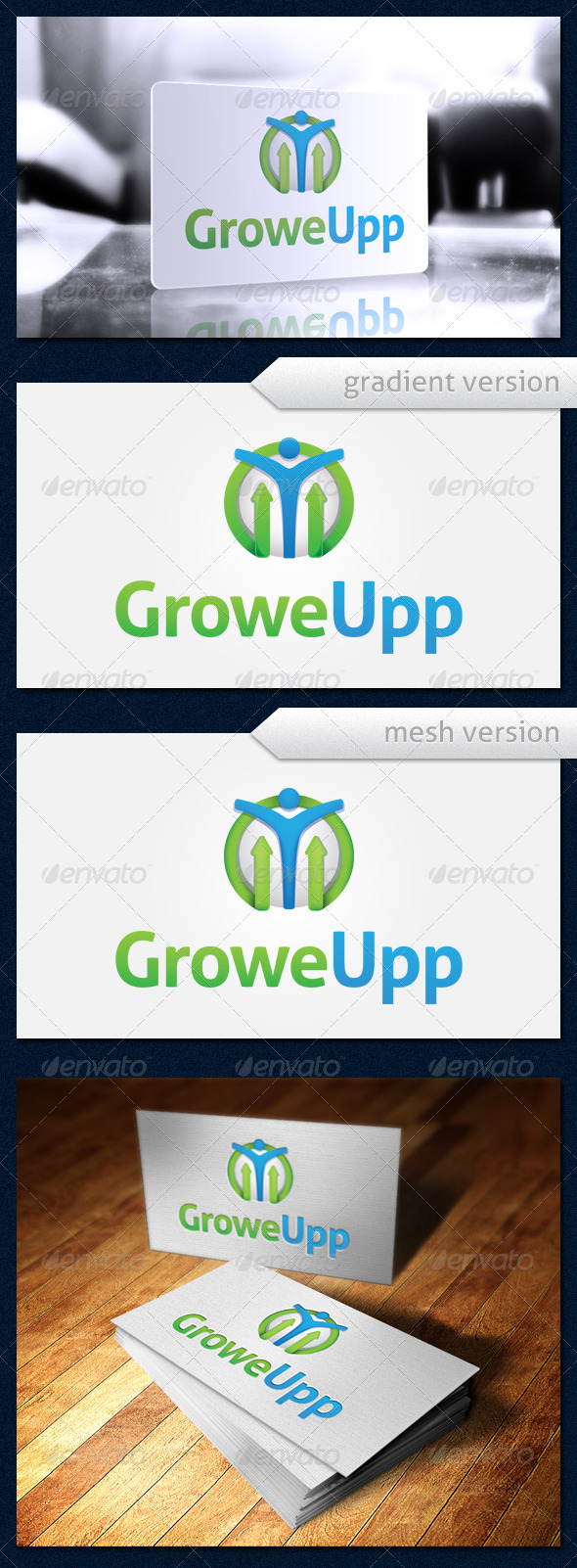 GraphicRiver GroweUpp Logo 4119377
