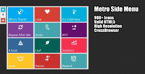 CodeCanyon Metro Style Side Menu 4223904