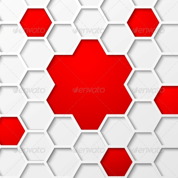 GraphicRiver Abstract Hexagon Background 4224106
