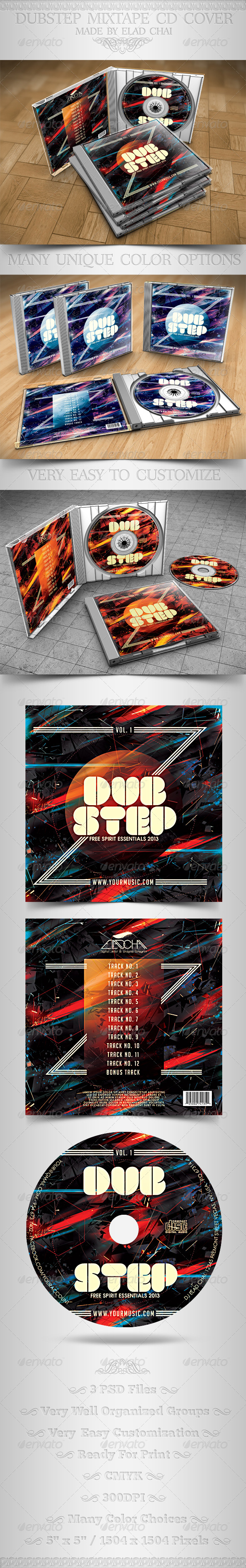 GraphicRiver Dubstep Mixtape CD Cover Insert & Label 4047580