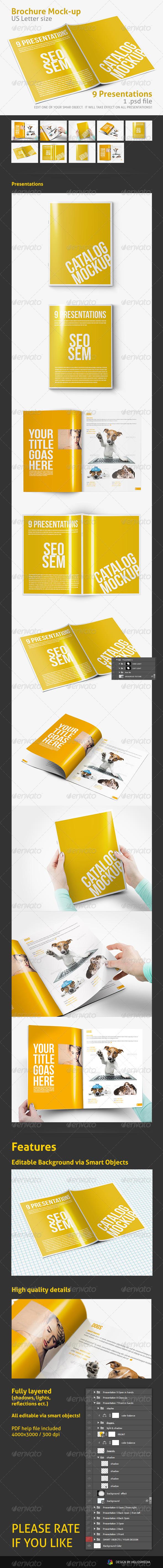 GraphicRiver Photorealistic Brochure Catalog Mockup 4224267