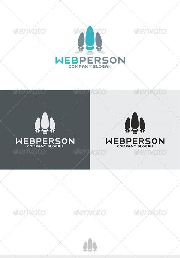 Web Person Logo - Humans Logo Templates