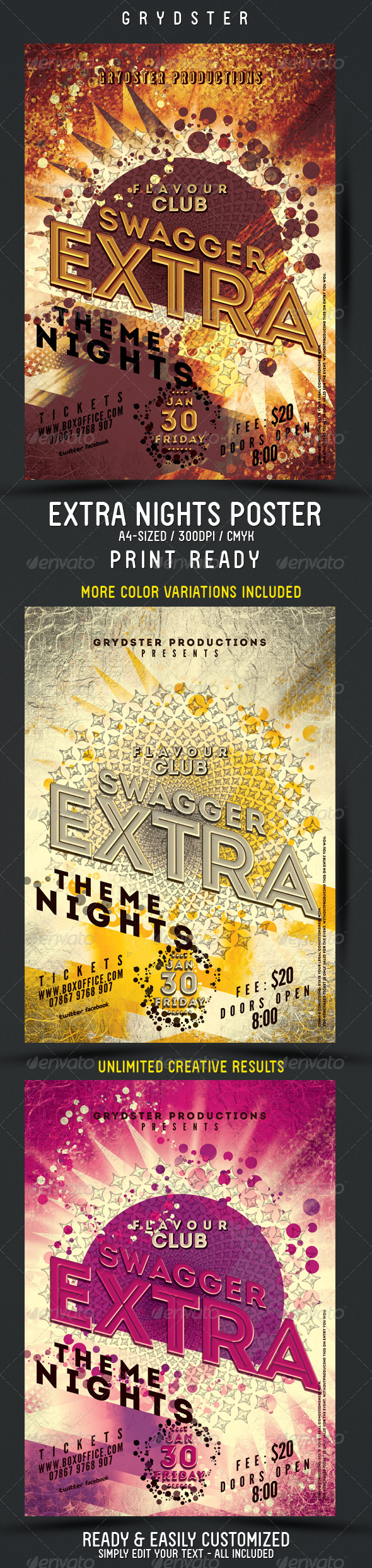 GraphicRiver Extra Theme Nights Flyer Poster 4046061