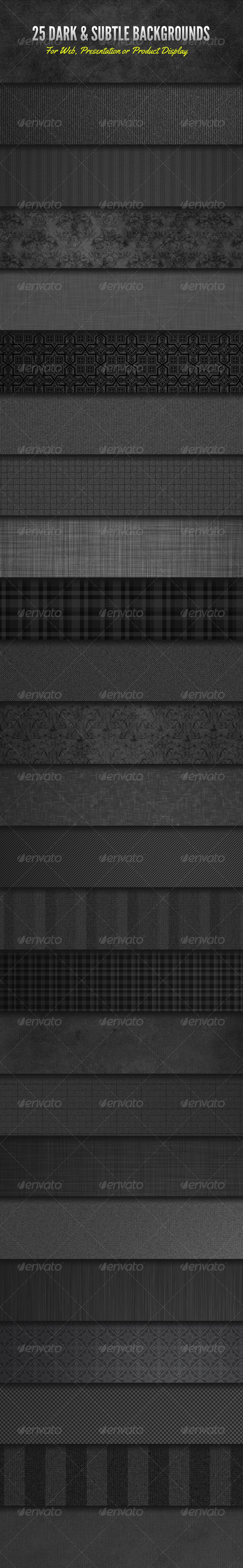 GraphicRiver Dark and Subtle Background Textures 4224902