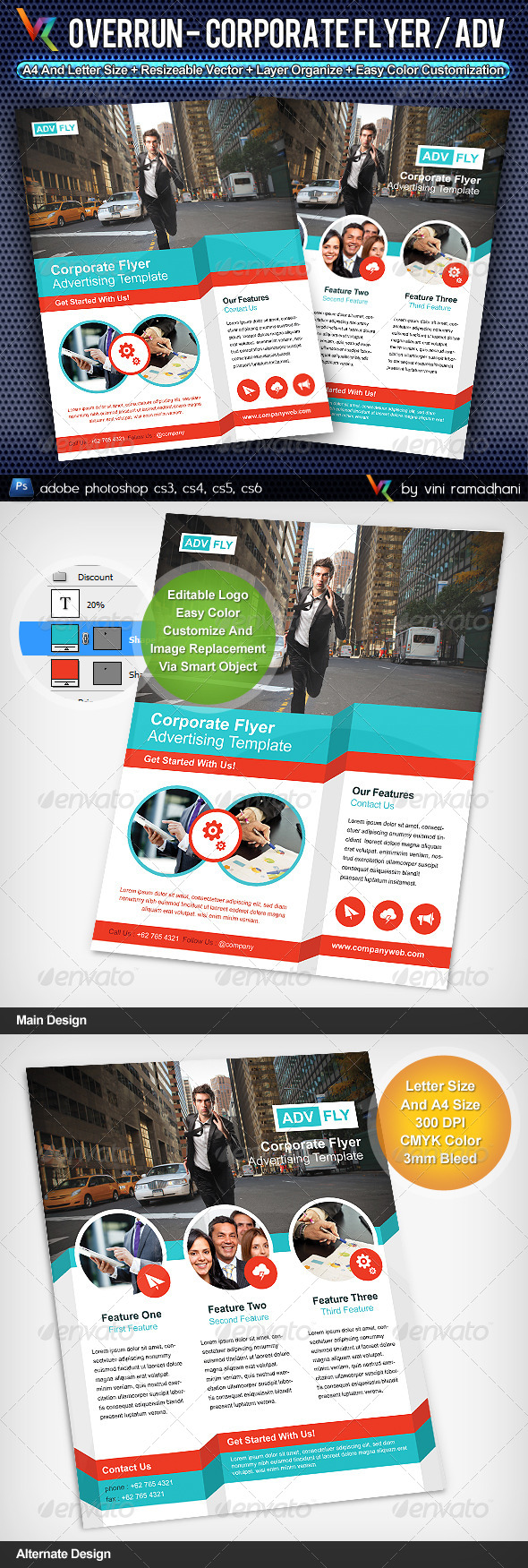 GraphicRiver Overrun Business Flyer Or Advertising 4224971