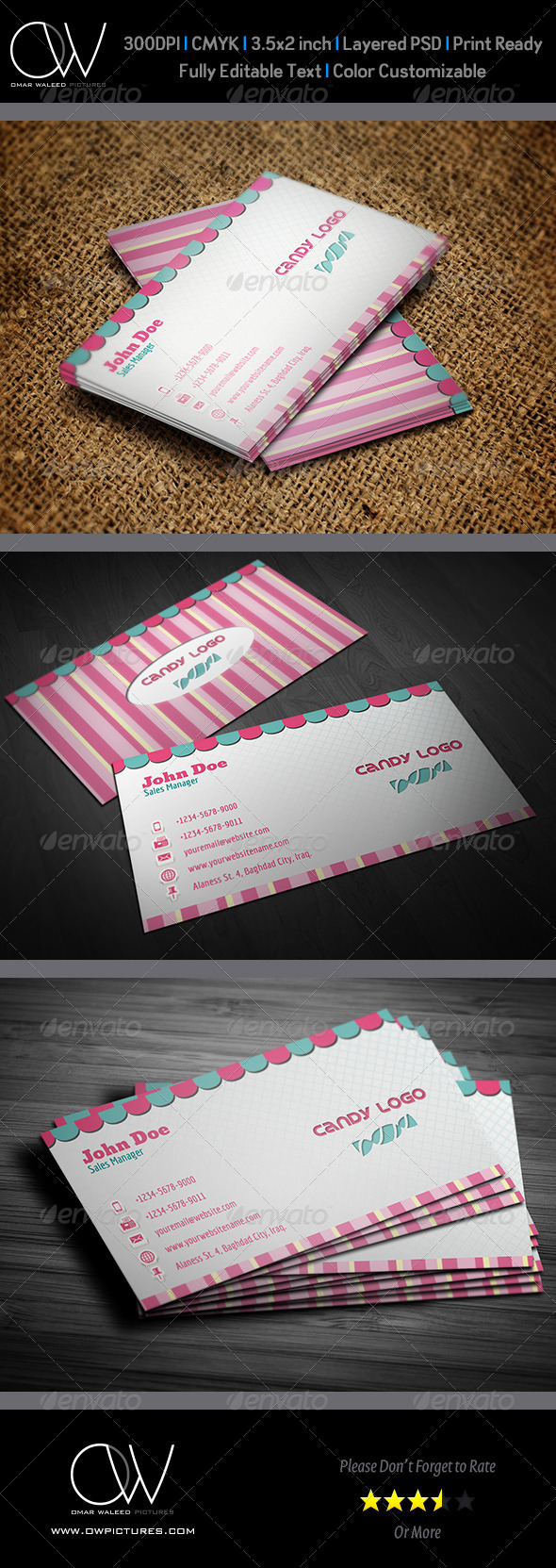 GraphicRiver Candy Business Card 3053171