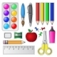 Set of School Tools and Supplies - GraphicRiver Item for Sale