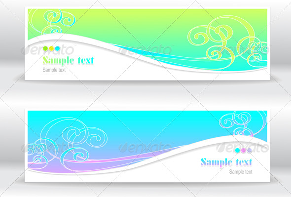GraphicRiver Abstract Summer Marine Banners 4226133