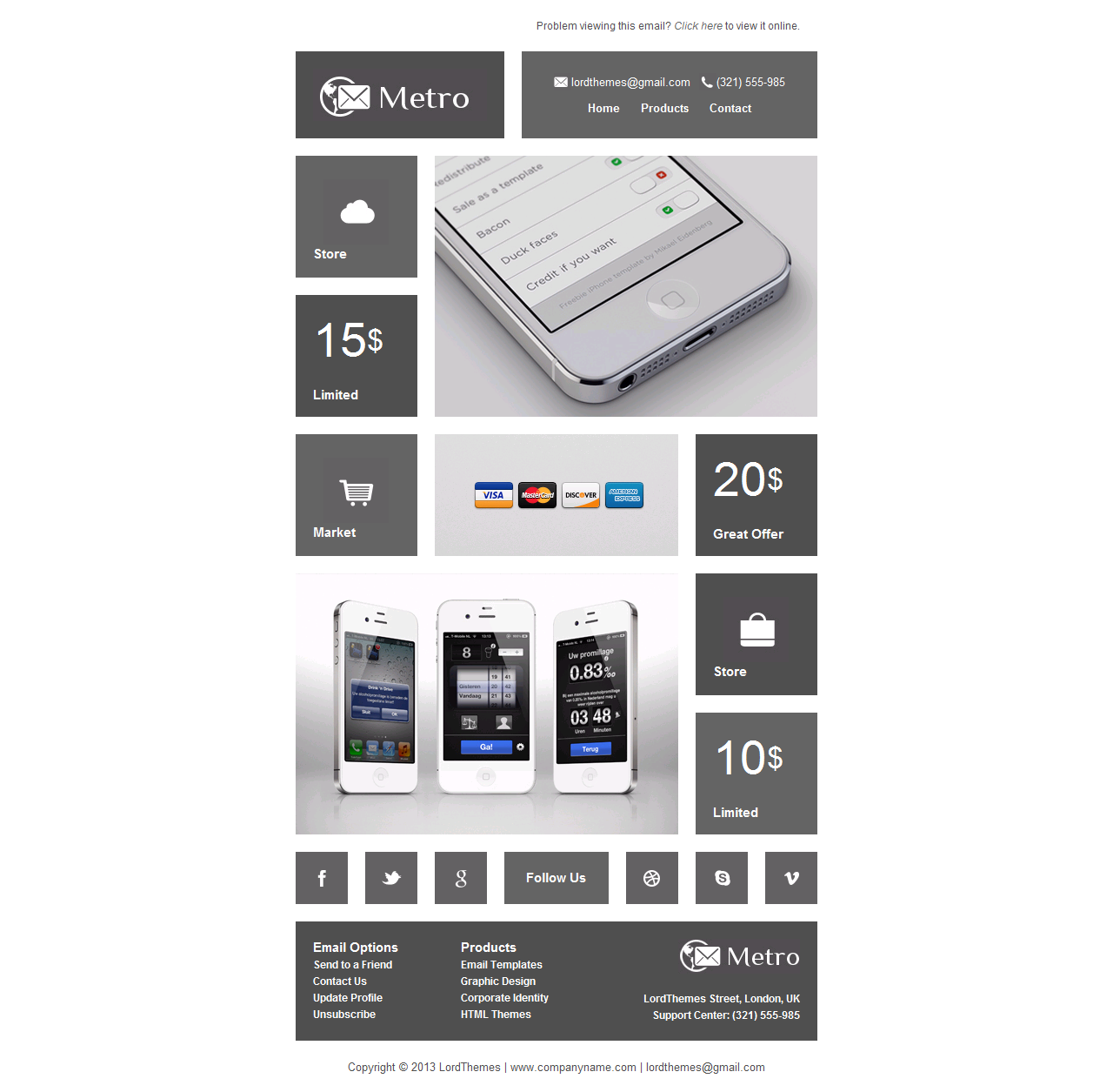 Metro - Multipurpose Email Template