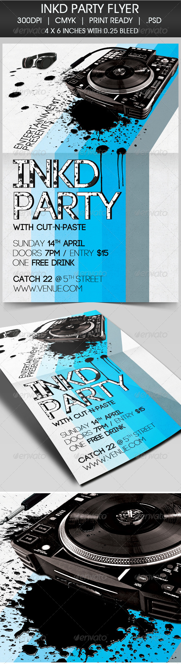 GraphicRiver Inkd Party Flyer 4228020