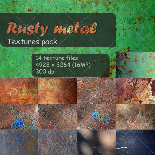 GraphicRiver 14 Textures Rusty metal 4228021